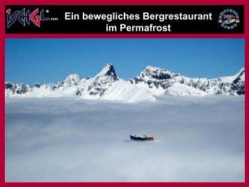 Ein bewegliches Bergrestaurant im Permafrost - SLF