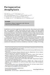 Perioperative Anaphylaxis