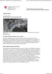 MeteoSchweiz - Eiskalter Start in einen wunderschönen Tag - SLF