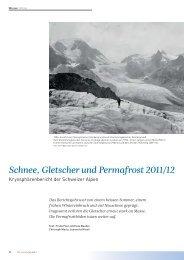 Schnee, Gletscher und Permafrost 2011/12 - SLF