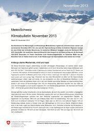 Klimabulletin November 2013 November 2013 - SLF