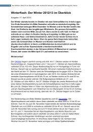 Winterflash: Der Winter 2012/13 im Überblick - SLF