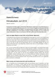 Klimabulletin Juli 2013 Juli 2013 - SLF