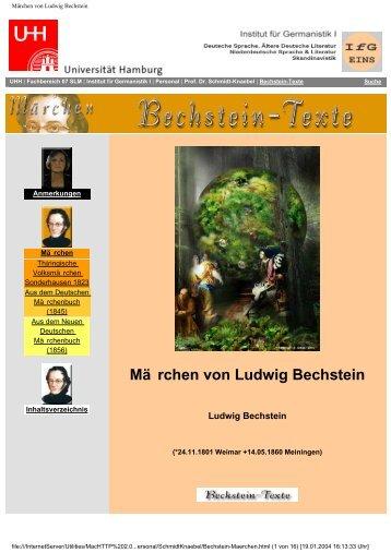 Märchen von Ludwig Bechstein