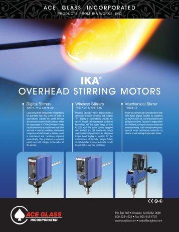 IKA Overhead Stirrers - ACS