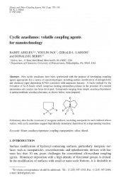 Cyclic azasilanes: volatile coupling agents for ... - Gelest Inc.