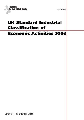 UK Standard Industrial Classification of Economic Activities 2003