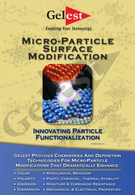 Micro-Particle Surface Modification - Gelest Inc