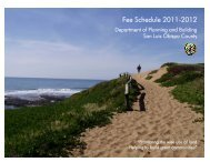 Fee Schedule 2011-2012 - County of San Luis Obispo