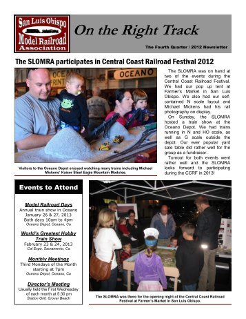 Fourth Quarter 2012 - San Luis Obispo Model Railroad Association