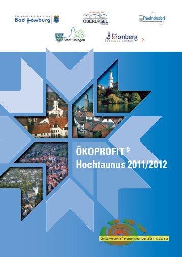 ÖKOPROFIT® Hochtaunus 2011/2012 - Arqum GmbH
