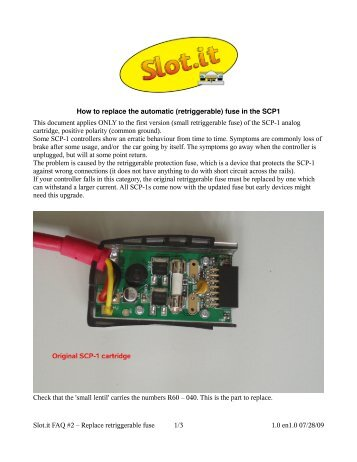 Replace the Fuse in the SCP-1 - SLOT.IT