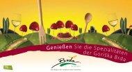 Genießen Sie die Spezialitäten der Goriška Brda - Slovenia