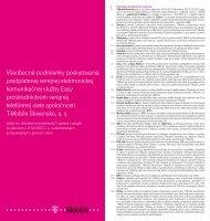 Všeobecné podmienky poskytovania predplatenej ... - Slovak Telekom