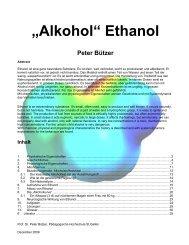 """Alkohol"" Ethanol Peter Bützer"