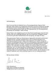 Bericht des Conviviums Barnim-Oderland - Slow Food Deutschland eV