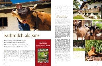 Kuhmilch als Zins - Slow Food München