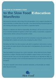 to the Slow Food Education Manifesto