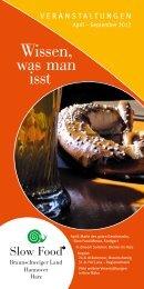 Broschüre zum Downloaden - Slow Food Deutschland eV