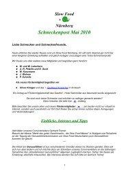 Mai - Slow Food Deutschland eV