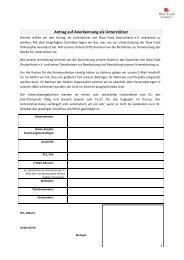 Antrag auf Anerkennung als Unterstützer - Slow Food Deutschland eV