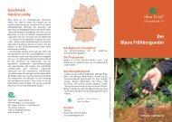 Der Blaue Frühburgunder - Slow Food Deutschland eV
