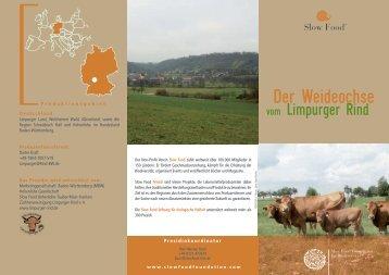 Informationsflyer zum Download (PDF) - Slow Food Deutschland eV