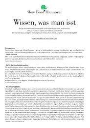 Beispiel: Infoblatt Zusatzstoffe (PDF)