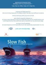 Info-Flyer der internationalen Slow Fish Kampagne von Slow Food