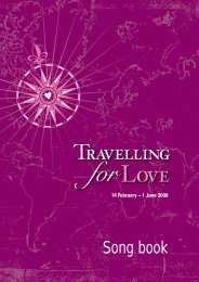 Travelling for Love exhibition - Song Book