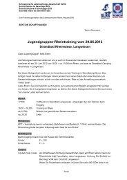 Schweizerische Lebensrettungs-Gesellschaft SLRG - SLRG Sektion ...