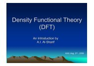 Introduction to DFT - Chemistry Department