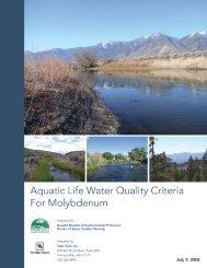 Molybdenum Toxicity Data - Nevada Division of Environmental ...