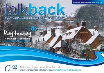 Talkback Winter 2009 - Corby Borough Council