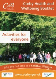health and wellbeing booklet 2012 - Corby Borough Council