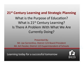 21st Century Learning Presentation - Oak Lawn-Hometown School ...