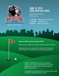 2013 Ed Foundation Golf Outing Registration Form - Oak Lawn ...