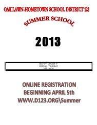 Brochure - Oak Lawn-Hometown School District 123