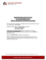 REGISTRATION FOR 2012-2013 BY APPOINTMENT ONLY Walk-in ...