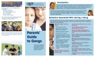 Parents' Guide to Gangs - Florida Gang Reduction