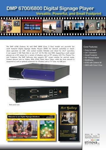 DMP 6700/6800 Digital Signage Player