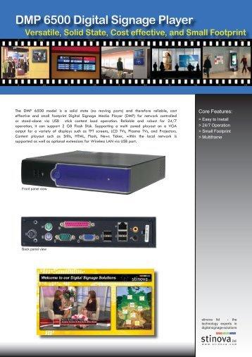DMP 6500 Digital Signage Player