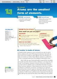 Textbook Unit D (1.1) Atoms are the smallest form of elements.