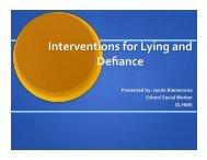 Lying and Defiance Presentation