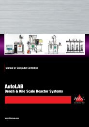 AutoLAB Bench & Kilo Scale Reactor Systems - HEL