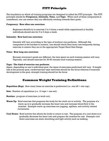 glossary of weight lifting terms defined