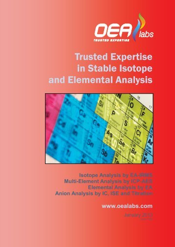 Download Services Catalogue - OEA Labs Ltd
