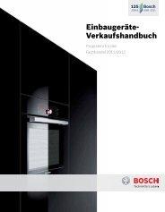 Einbaugeräte 2012 - Bosch