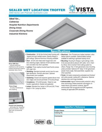Download Cutsheet - Specified Lighting Systems