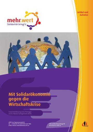 Mit Solidarökonomie gegen die Wirtschaftskrise